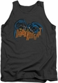 Batman tank top Retro Dark Knight adult charcoal