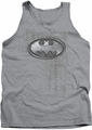Batman tank top Rivited Metal Logo adult heather