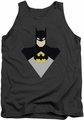 Batman tank top Simple Bat adult charcoal
