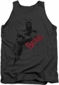 Batman tank top Sketch Bat Red Logo adult charcoal