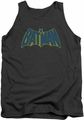 Batman tank top Sketch Logo adult charcoal
