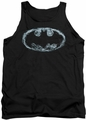 Batman tank top Smoke Signal adult black