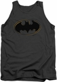 Batman tank top Spray Paint Logo adult charcoal