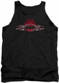 Batman tank top Steel Flames Logo adult black