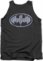 Batman tank top Steel Mesh Shield adult charcoal