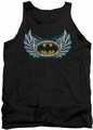 Batman tank top Steel Wings Logo adult black