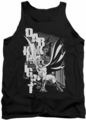Batman tank top Vertical Letters adult black
