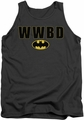 Batman tank top Wwbd Logo adult charcoal