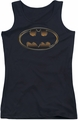 Batman The Dark Knight Rises juniors tank top Spray Bat black