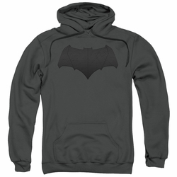 Batman Vs Superman pull-over hoodie Batman Logo adult Charcoal
