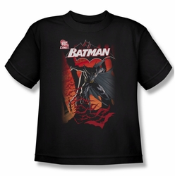 Batman youth teen t-shirt #655 Cover black