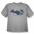 Batman youth teen t-shirt 75 Year Collage athletic heather