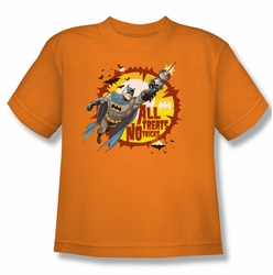 Batman youth teen t-shirt All Treats orange