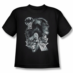 Batman youth teen t-shirt Archenemies black