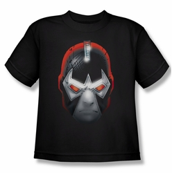 Batman youth teen t-shirt Bane Head black