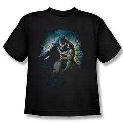 Batman youth teen t-shirt Bat Cave black
