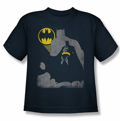 Batman youth teen t-shirt Bat Knockout navy