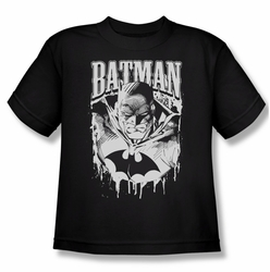 Batman youth teen t-shirt Bat Metal black