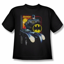 Batman youth teen t-shirt Bat Racing black