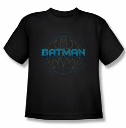 Batman youth teen t-shirt Bat Tech Logo black