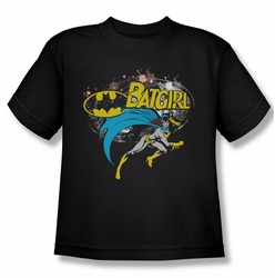 Batman youth teen t-shirt Batgirl Halftone black