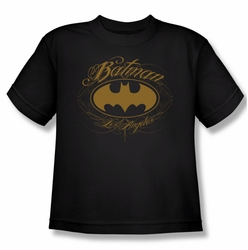 Batman youth teen t-shirt Batman La black