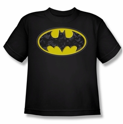 Batman youth teen t-shirt Bats In Logo black