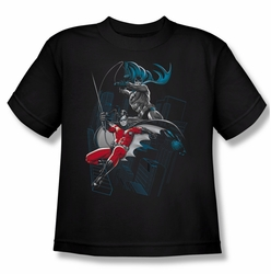 Batman youth teen t-shirt Black And White black