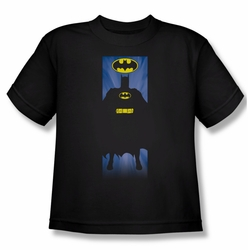 Batman youth teen t-shirt Block black