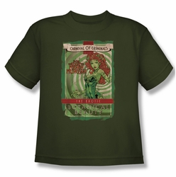 Poison Ivy youth teen t-shirt Botanical Beauty military green
