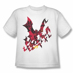 Batman youth teen t-shirt Broken City white
