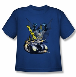 Batman youth teen t-shirt By Air & By Land royal