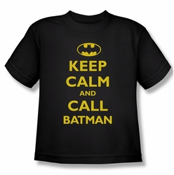 Batman youth teen t-shirt Call Batman black