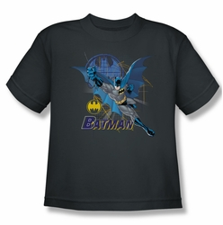 Batman youth teen t-shirt Cape Outstretched charcoal