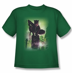 Batman youth teen t-shirt Catwoman #63 Cover kelly green