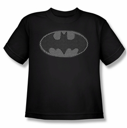 Batman youth teen t-shirt Chainmail Shield black