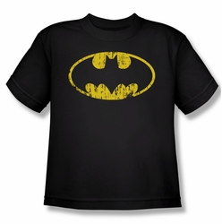 Batman youth teen t-shirt Classic Logo Distressed black