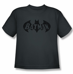 Batman youth teen t-shirt Crackle Bat charcoal