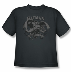 Batman youth teen t-shirt Crusade charcoal