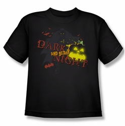 Batman youth teen t-shirt Dark And Scary Night black