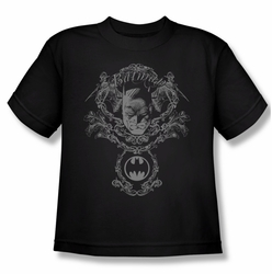 Batman youth teen t-shirt Dark Knight Heraldry black