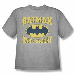 Batman youth teen t-shirt Dark Knight Jersey heather