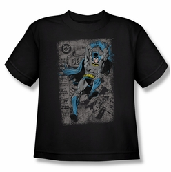 Batman youth teen t-shirt Detective #487 Distress black