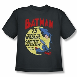 Batman youth teen t-shirt Detective 75 charcoal