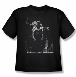 Batman youth teen t-shirt Dirty City black