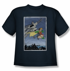 Batman youth teen t-shirt Dkr Duo navy