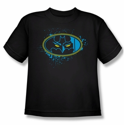 Batman youth teen t-shirt Eyes In The Darkness black