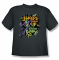 The Joker youth teen t-shirt Goblin Candy charcoal
