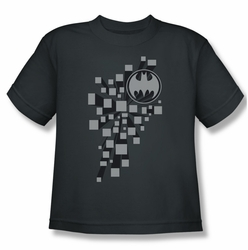 Batman youth teen t-shirt Gotham 3D charcoal