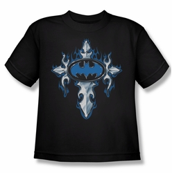 Batman youth teen t-shirt Gothic Steel Logo black